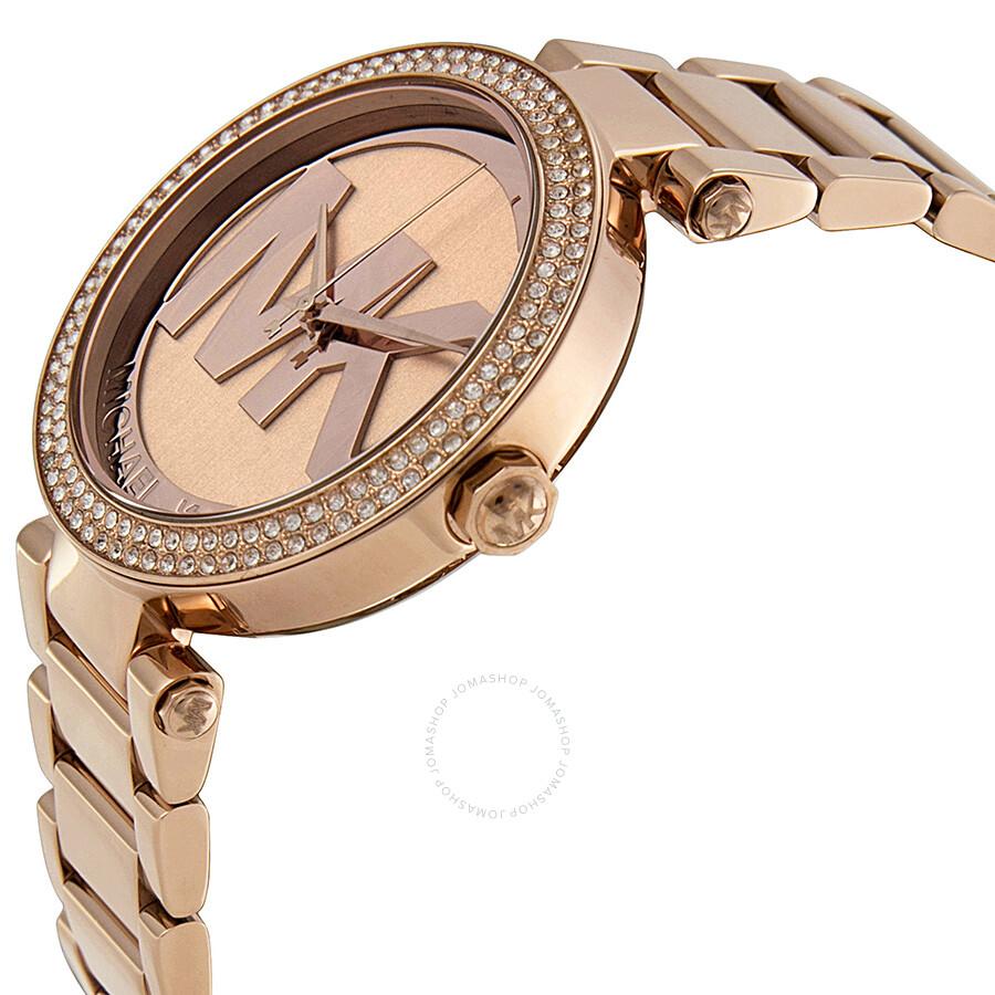 e2dec220f7d0 Michael Kors Parker Dial Rose Gold-tone Ladies Watch MK5865 - Parker ...