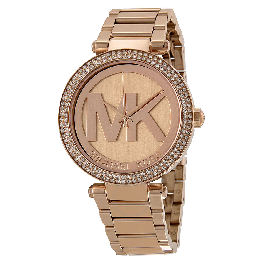 6d6ff474133d Michael Kors Parker Dial Rose Gold-tone Ladies Watch MK5865 - Parker ...