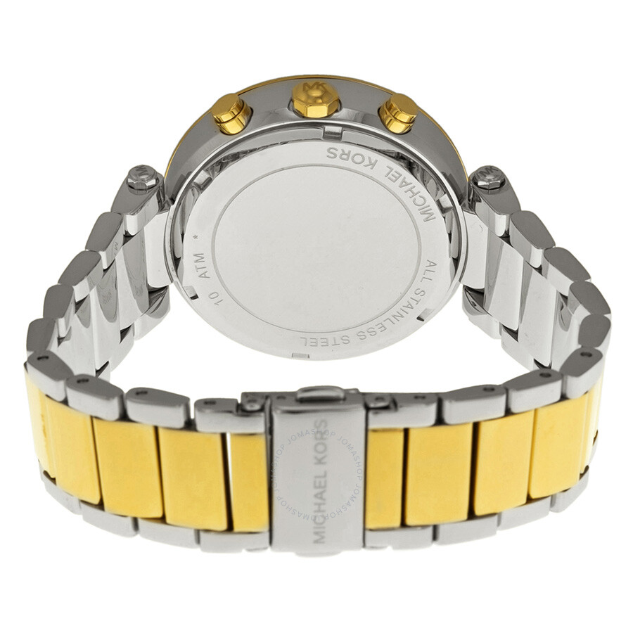 6f81960333d ... Michael Kors Parker Glitz Silver Dial Two-tone Ladies Watch MK5626 ...