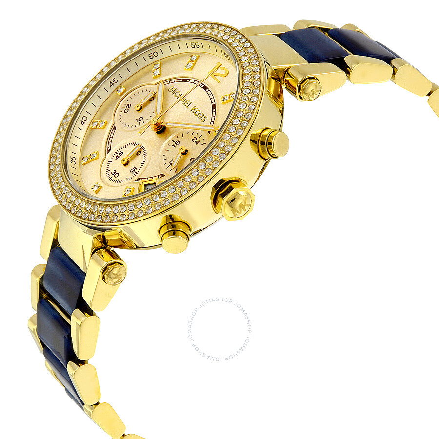 a6a401d943e75 ... Michael Kors Parker Multi-Function Champagne Dial Ladies Watch MK6238  ...