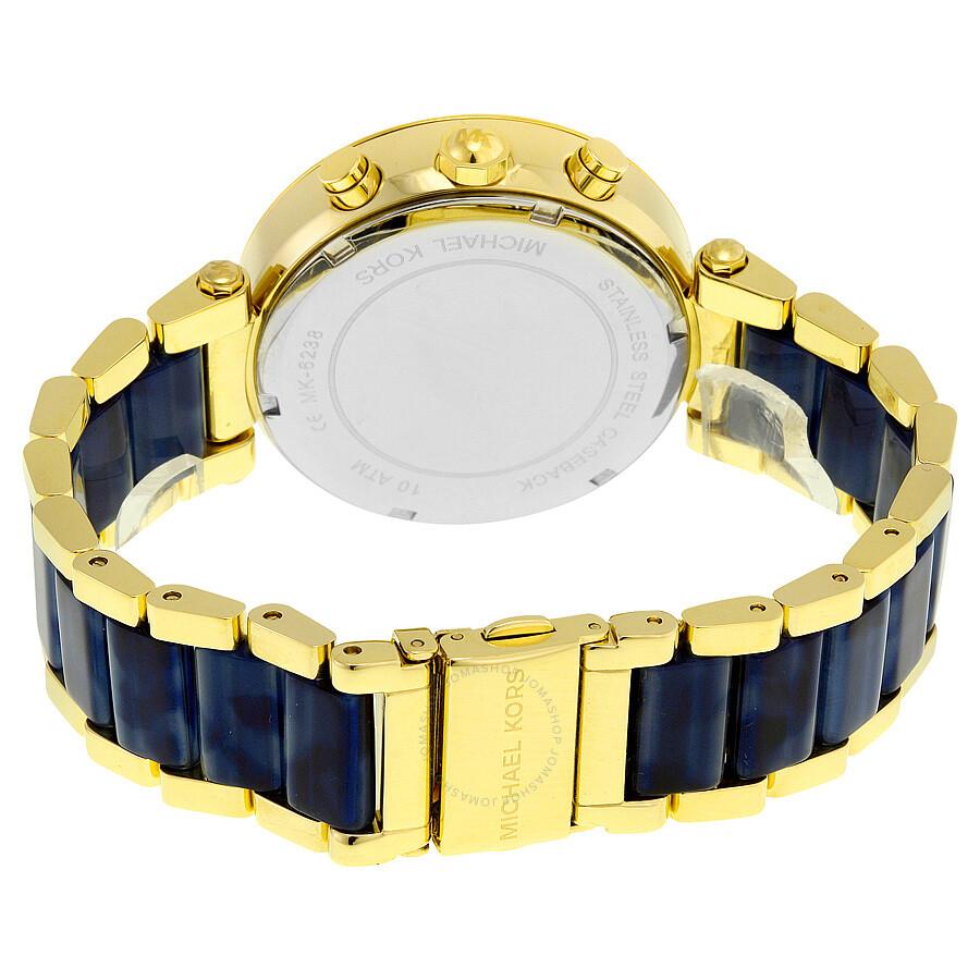 de181aed9005f ... Michael Kors Parker Multi-Function Champagne Dial Ladies Watch MK6238