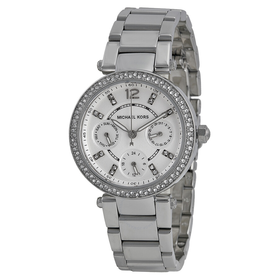 73394f2f2ceb Michael Kors Parker Multi-Function Silver Ladies Watch MK5615 ...