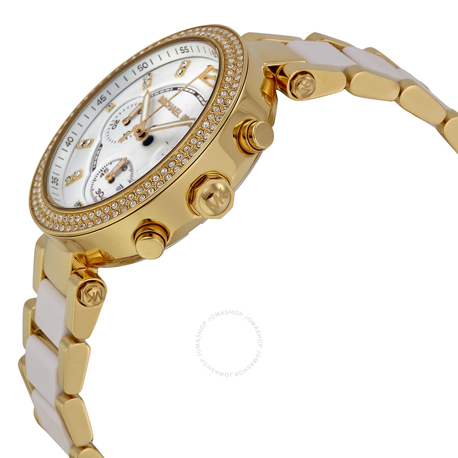 ec48c3369ae3 ... Michael Kors Parker Multi-function White Dial Ladies Watch MK6119 ...