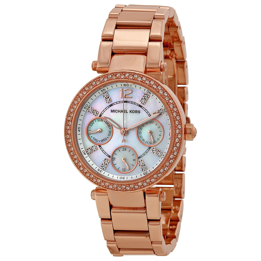 Michael Kors Parker Multi-Function Rose Gold-tone Ladies ...