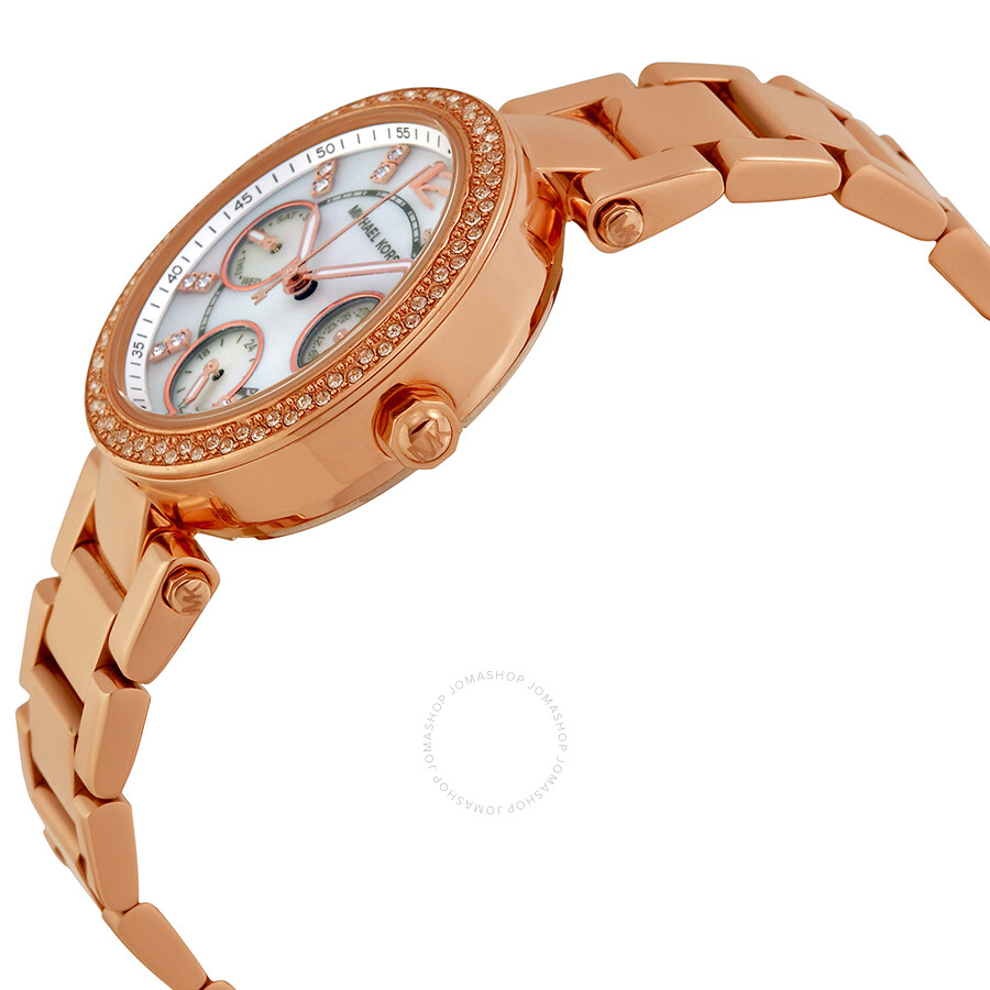 3cecb2e626ea ... Michael Kors Parker Multi-Function Rose Gold-tone Ladies Watch MK5616  ...