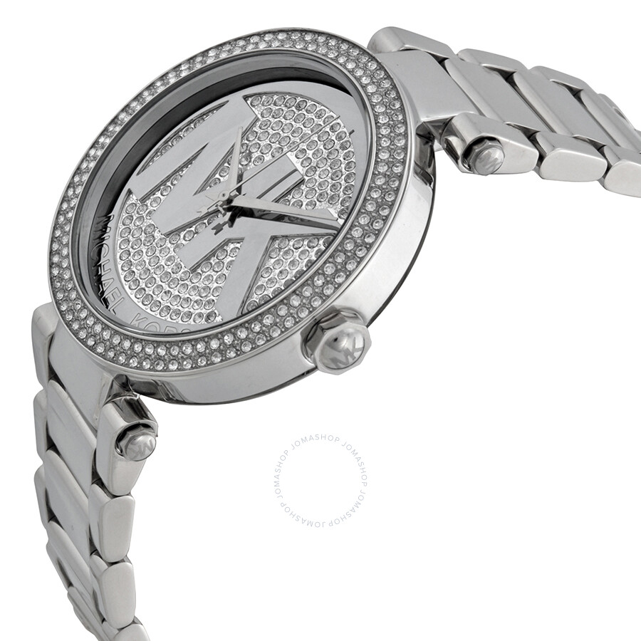 4451a382f017 ... Michael Kors Parker Silver Crystal Pave Dial Ladies Watch MK5925 ...
