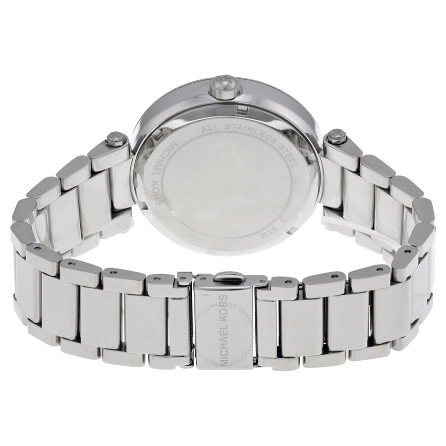 e558673387fc ... Michael Kors Parker Silver Crystal Pave Dial Ladies Watch MK5925 ...