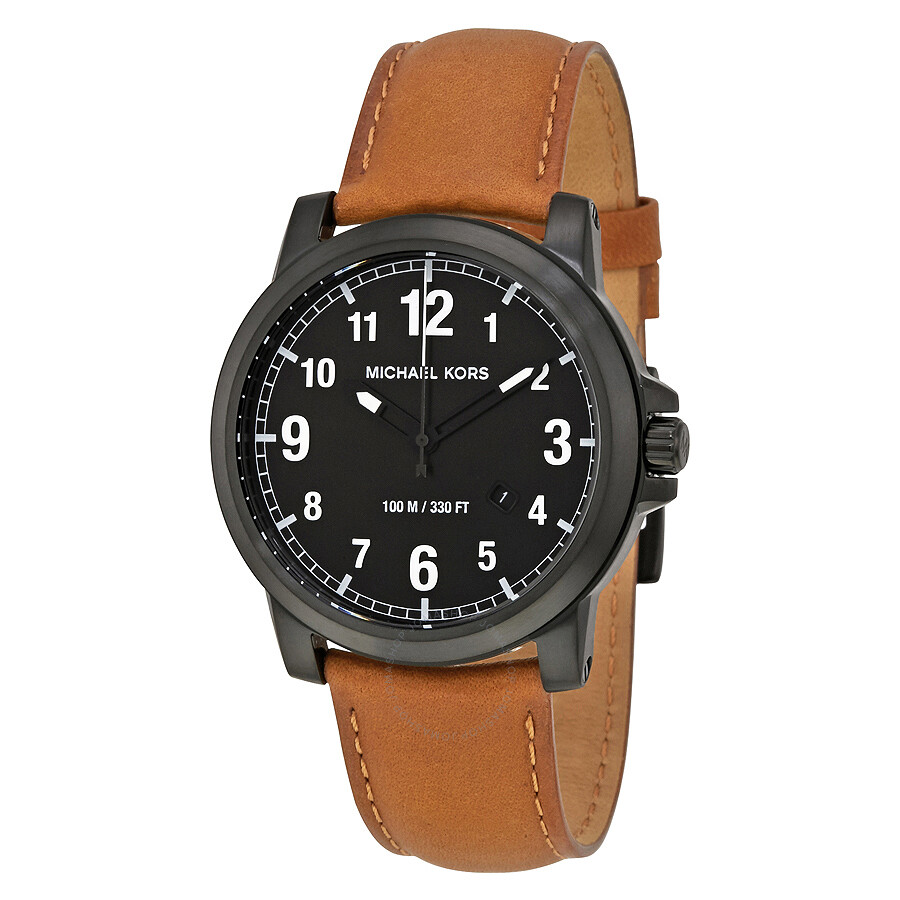 520a8d38399f Michael Kors Paxton Black Leather Men s Leather Watch MK8502 ...