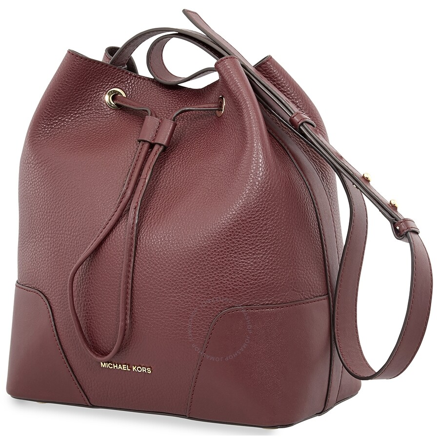 Michael Kors Pebbled Leather Bucket Bag- Oxblood Item No. 30F8G0CM2T-610 488b5e065a4b4