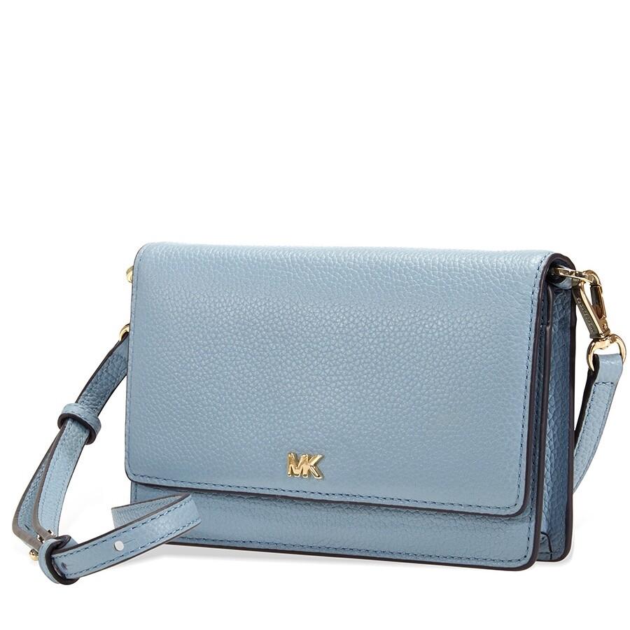 5622d064bb7ce3 Michael Kors Pebbled Leather Convertible Crossbody- Powder Blue Item No.  32T8TF5C9T-424