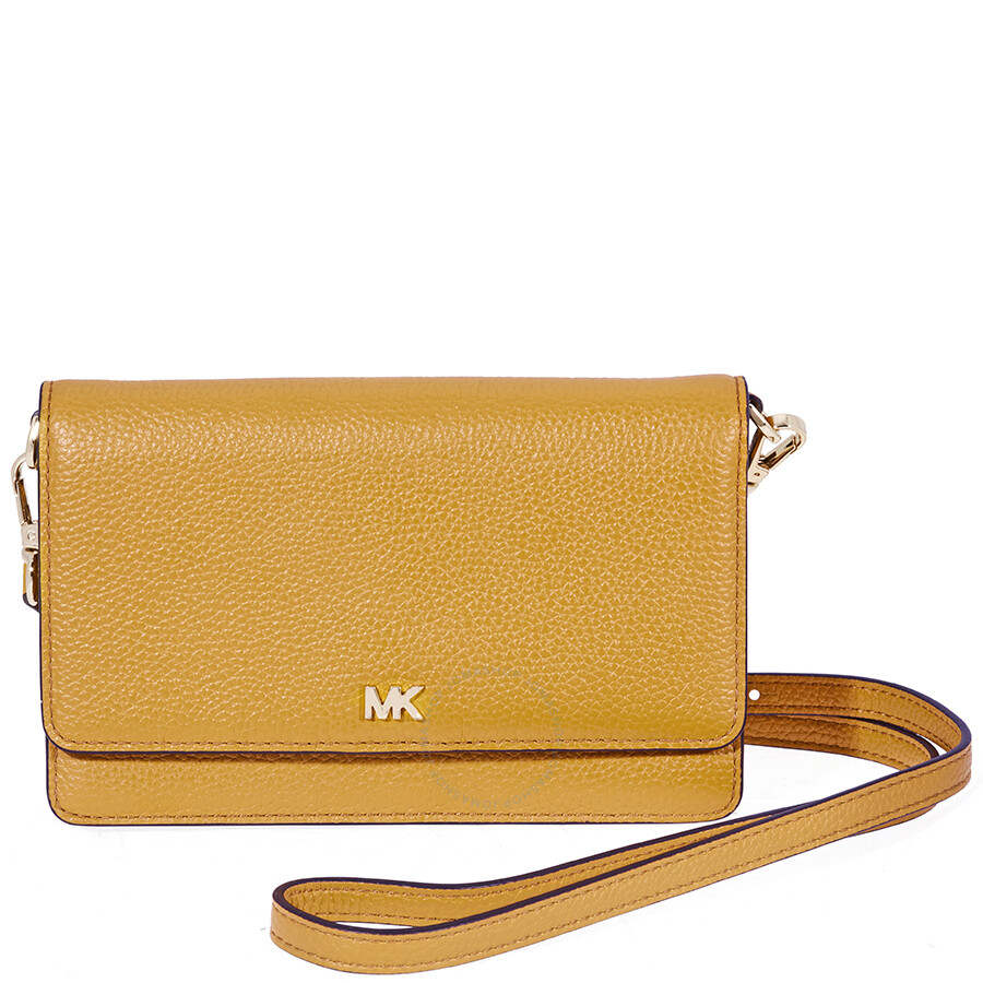 Michael Kors Pebbled Leather Crossbody- Marigold Item No. 32T8GF5C1L-706 6a50cfac4ca42