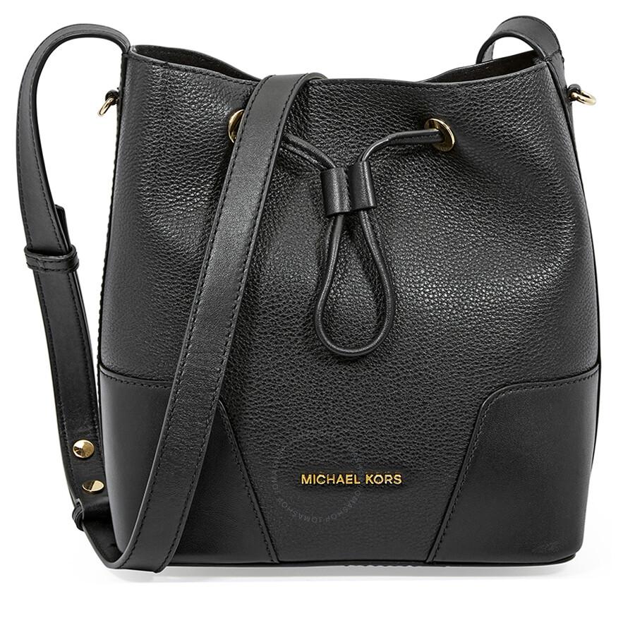 7dcfe5986dd2 Michael Kors Pebbled Leather Crossbody Bag- Black Item No. 30F8G0CM1T-001