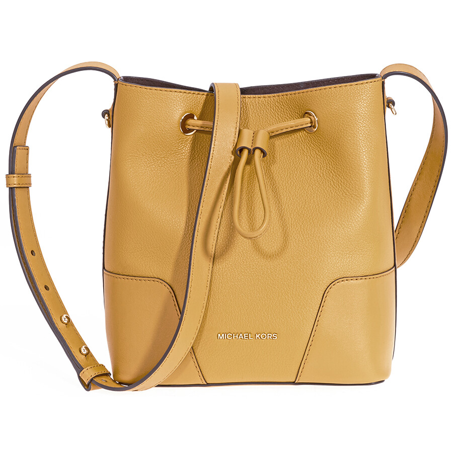 Michael Kors Pebbled Leather Crossbody Bag- Marigold Item No. 30F8G0CM1T-706 aadef4307217a