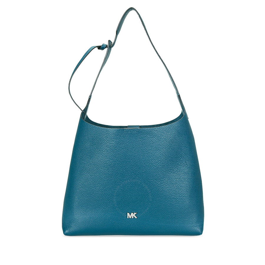 8a09d7f4e517 Michael Kors Pebbled Leather Shoulder Bag- Teal Item No. 30F8SX5H2L-402