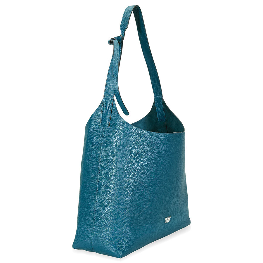 e787616f99d1 Michael Kors Pebbled Leather Shoulder Bag- Teal - Michael Kors ...