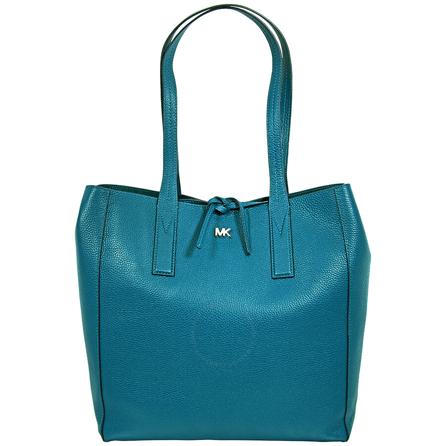5319358370ec Michael Kors Pebbled Leather Tote- Teal - Michael Kors Handbags ...