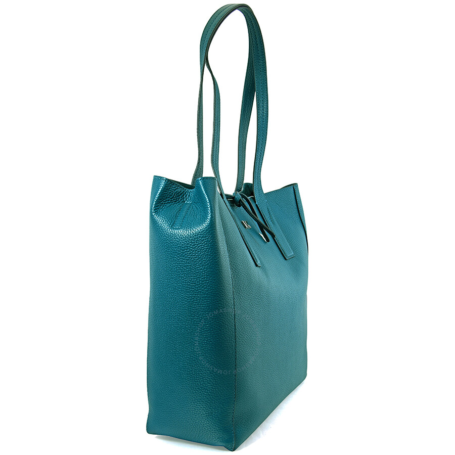 42d8587e8cd5 Michael Kors Pebbled Leather Tote- Teal - Michael Kors Handbags ...