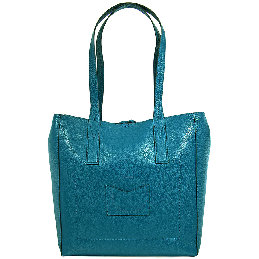 e5becfb8408f Michael Kors Pebbled Leather Tote- Teal - Michael Kors Handbags ...