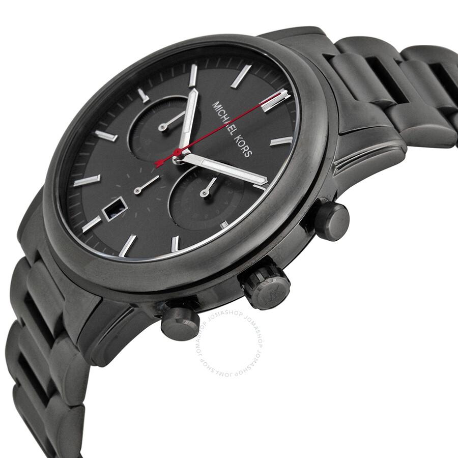 83f799c012d3f ... Michael Kors Pennant Chronograph Gunmetal Dial Gunmetal Ion-plated  Men s Watch MK8371 ...
