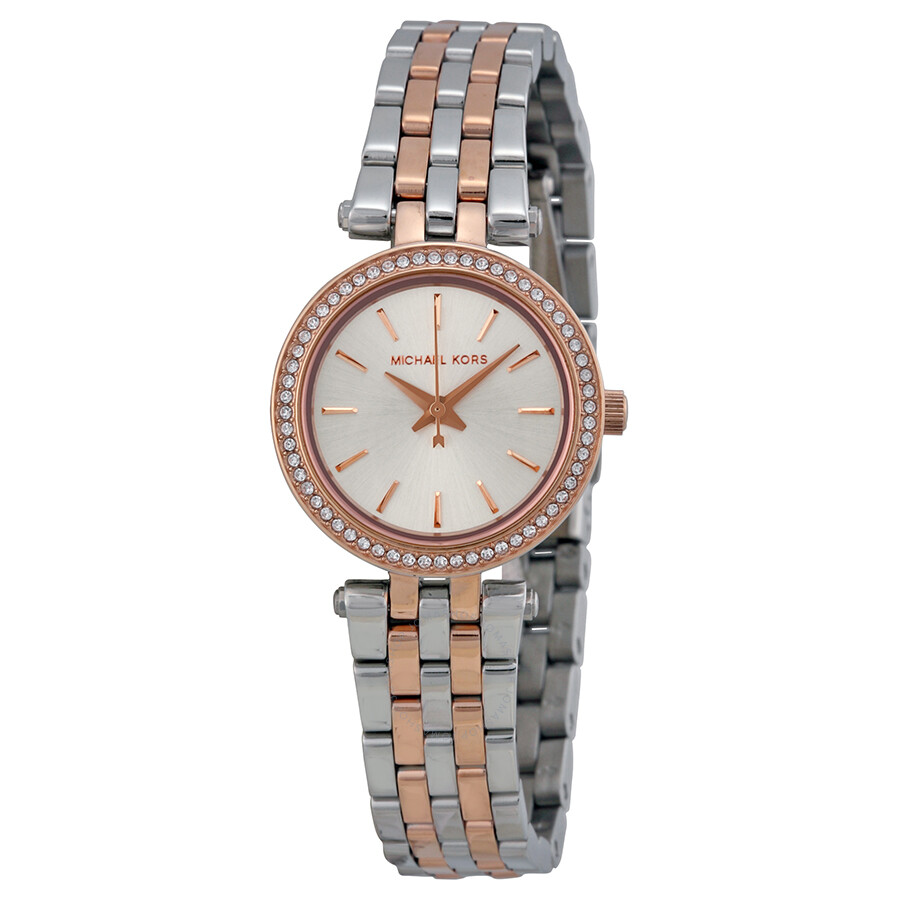 72c8c85d3ecce Michael Kors Petite Darci Silver Dial Two-tone Ladies Watch MK3298 ...