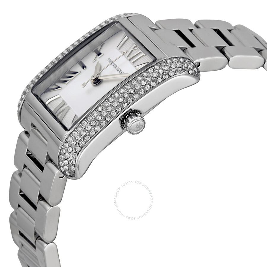 027e2f8af5ec7 ... Michael Kors Petite Emery Silver Dial Stainless Steel Ladies Watch  MK3289 ...