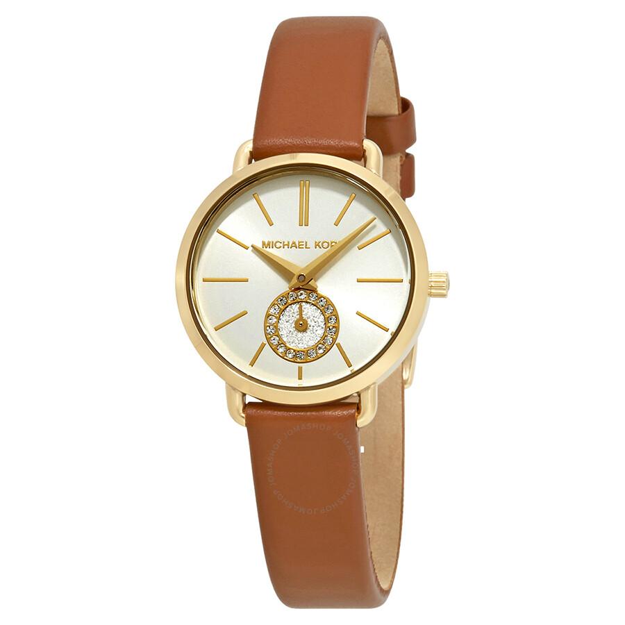 28b006dad17 Michael Kors Petite Portia Silver Dial Ladies Watch MK2734 - Michael ...