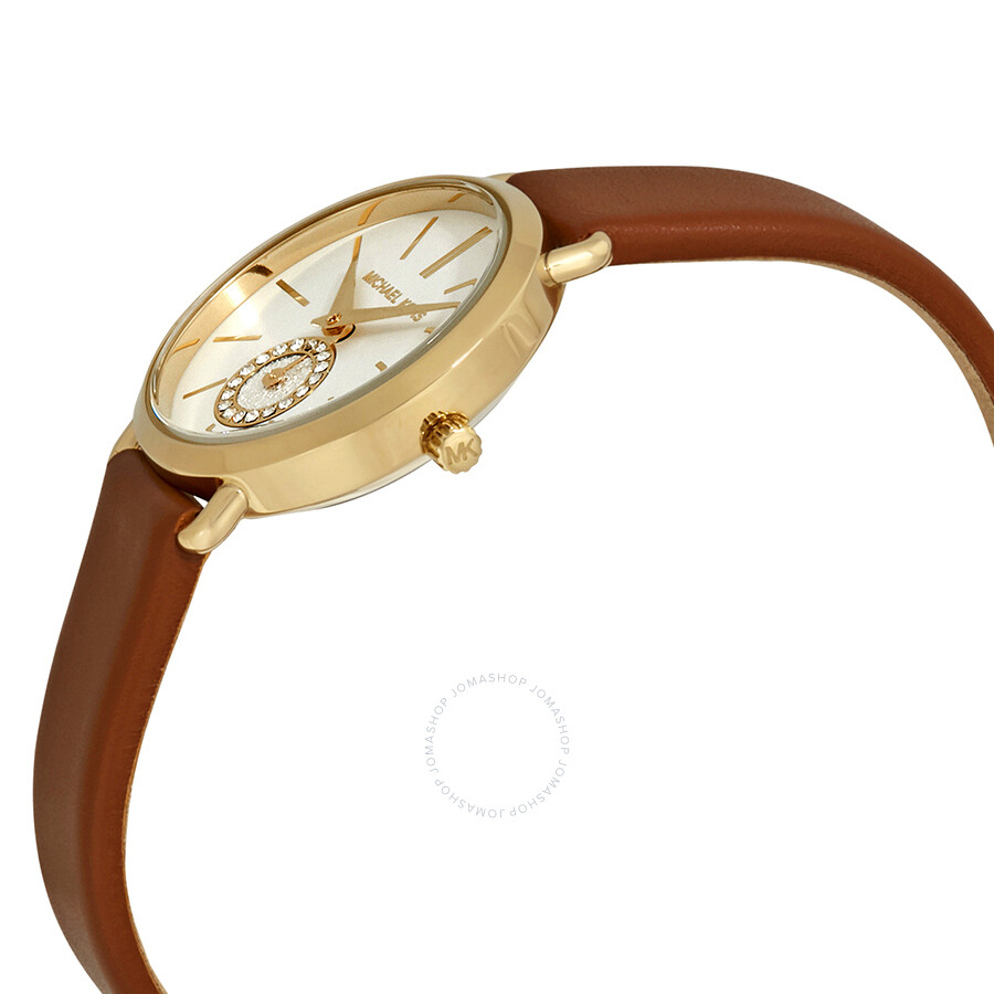 dd0e024c2e61 Michael Kors Petite Portia Silver Dial Ladies Watch MK2734 - Michael ...