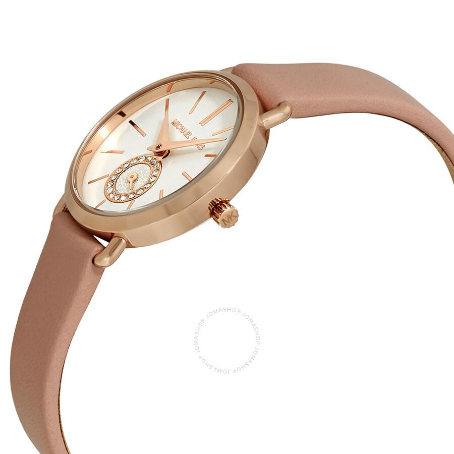2442931ecdc2 Michael Kors Petite Portia White Dial Ladies Watch MK2735 - Michael ...
