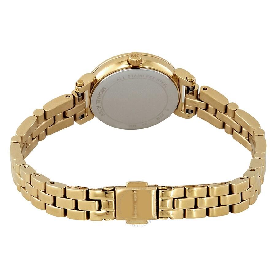 12e120033ab3 ... Michael Kors Petite Sofie Crystal Mother of Pearl Dial Ladies Watch  MK3833