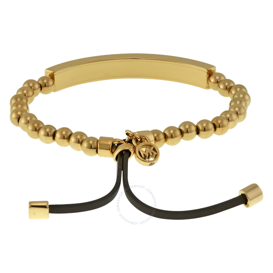 Michael Kors Plaque Stretch Bracelet Gold