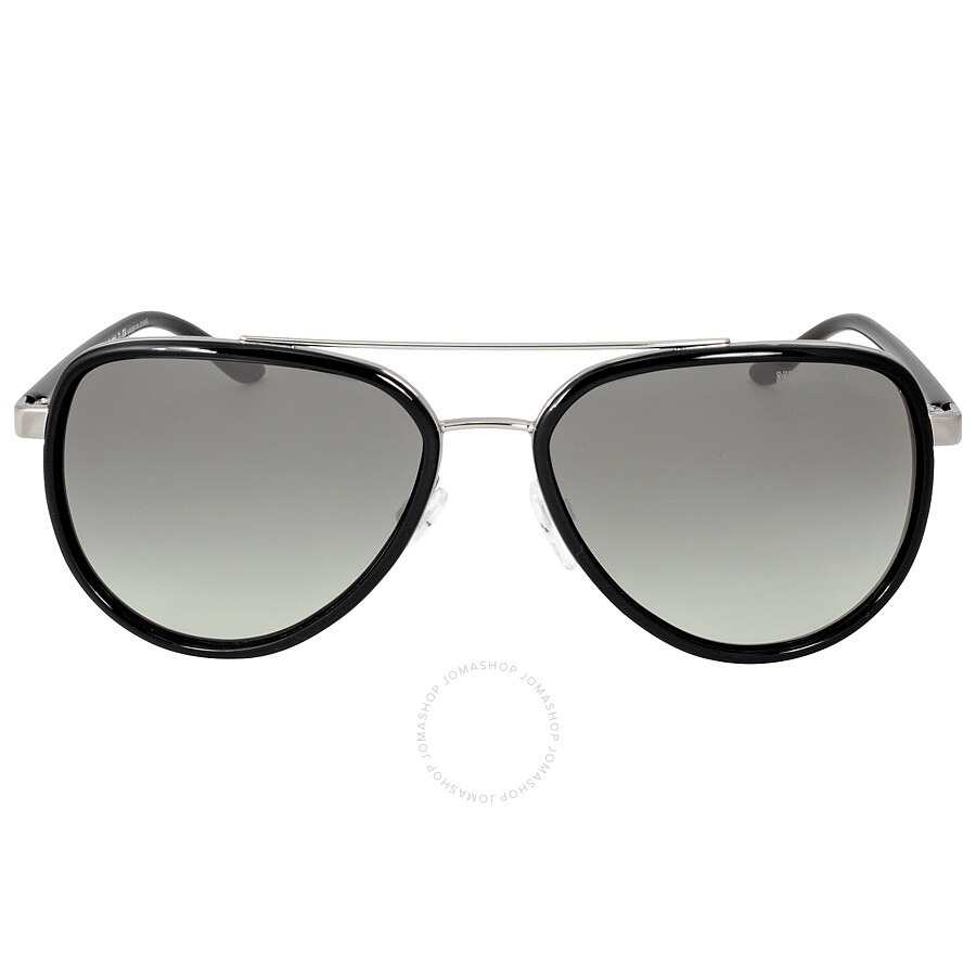 e1f81d0256 Michael Kors Playa Norte Aviator Black Silver Grey Gradient Sunglasses  MK5006 103311 57-16 ...