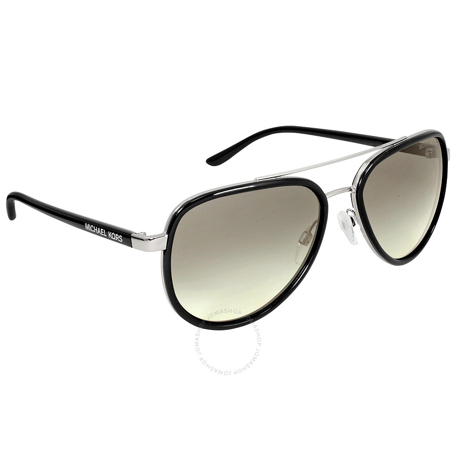 e38b7d1387 ... Michael Kors Playa Norte Aviator Black Silver Grey Gradient Sunglasses  MK5006 103311 57-16 ...