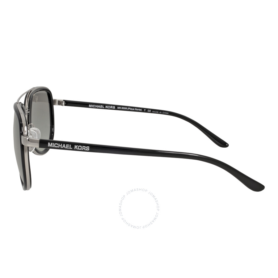 ec517ffb3c7 ... Michael Kors Playa Norte Aviator Black Silver Grey Gradient Sunglasses MK5006  103311 57-16 ...