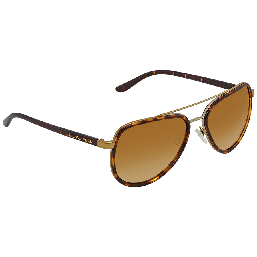 aba2ea1e840d3 Michael Kors Playa Norte Warm Brown Grant Aviator Sunglasses