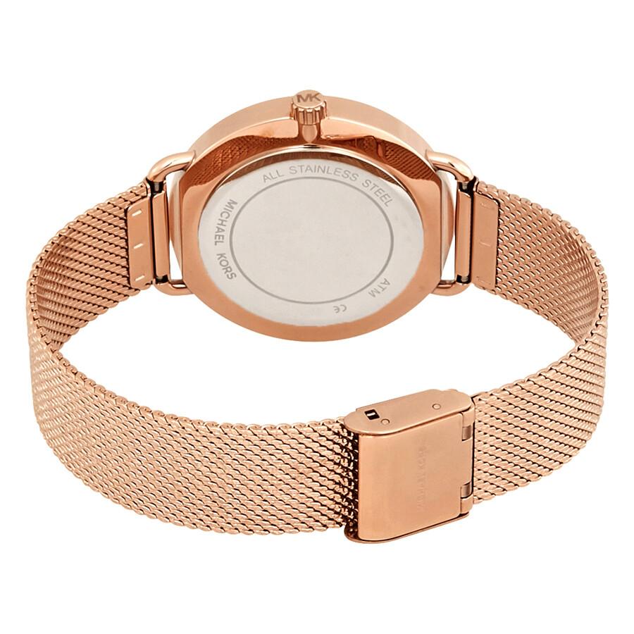 81f9a4bd9150 Michael Kors Porita Rose Dial Ladies Watch MK3845 - Michael Kors ...