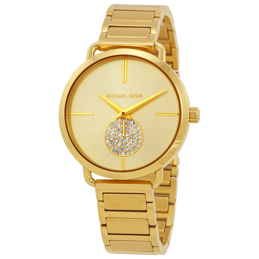 Michael Kors Portia Gold-tone Ladies Watch MK3639 ...