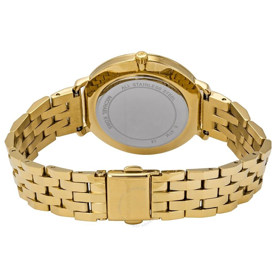 4e922b27a8b Michael Kors Pyper Crystal Gold Dial Ladies Watch MK3898 - Michael ...