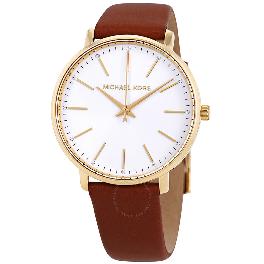 149092b7d Michael Kors Pyper Crystal White Sunray Dial Ladies Watch MK2740 ...