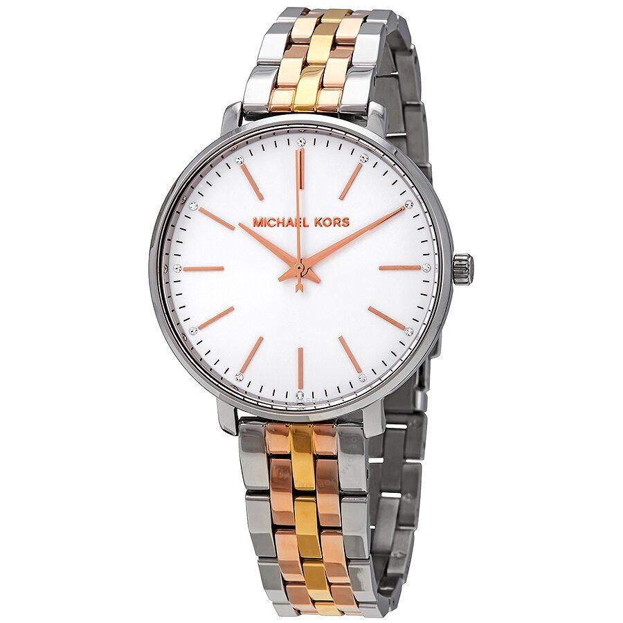 af472cd3ee43 Michael Kors Pyper Silver Dial Ladies Tri-tone Watch MK3901 ...
