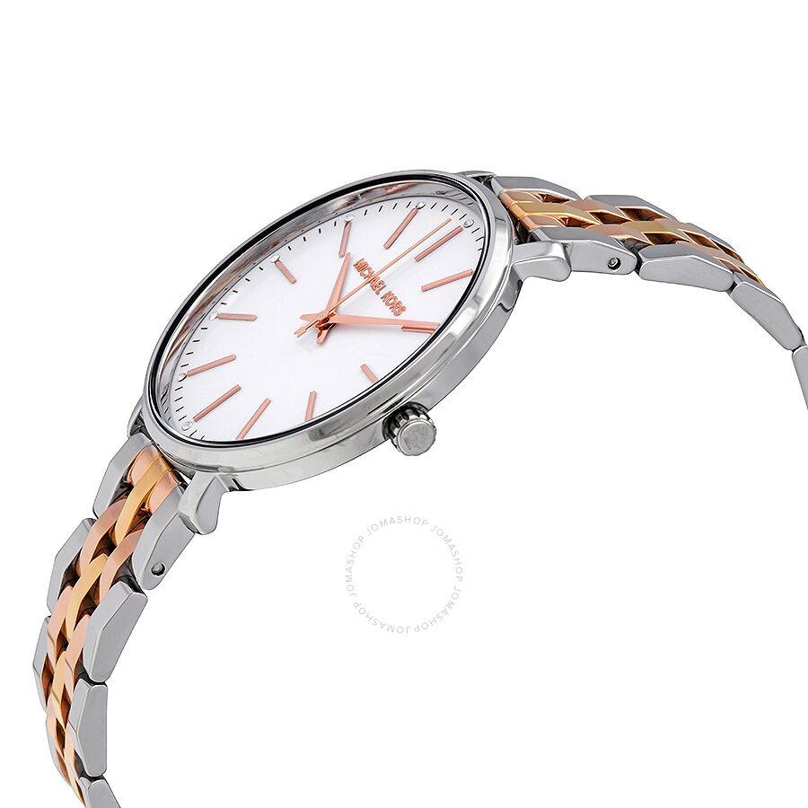 4a74f3f5179d ... Michael Kors Pyper Silver Dial Ladies Tri-tone Watch MK3901 ...