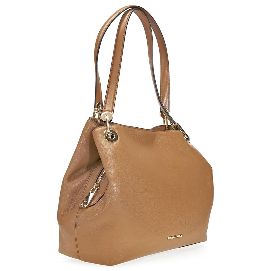 Michael Kors Raven Large Leather Shoulder Bag Acorn