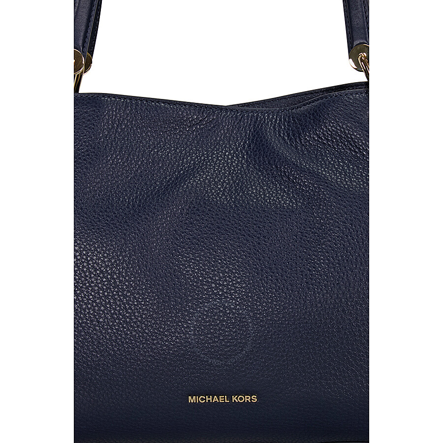 9211737be3f1 Michael Kors Raven Large Leather Shoulder Bag - Admiral - Michael ...