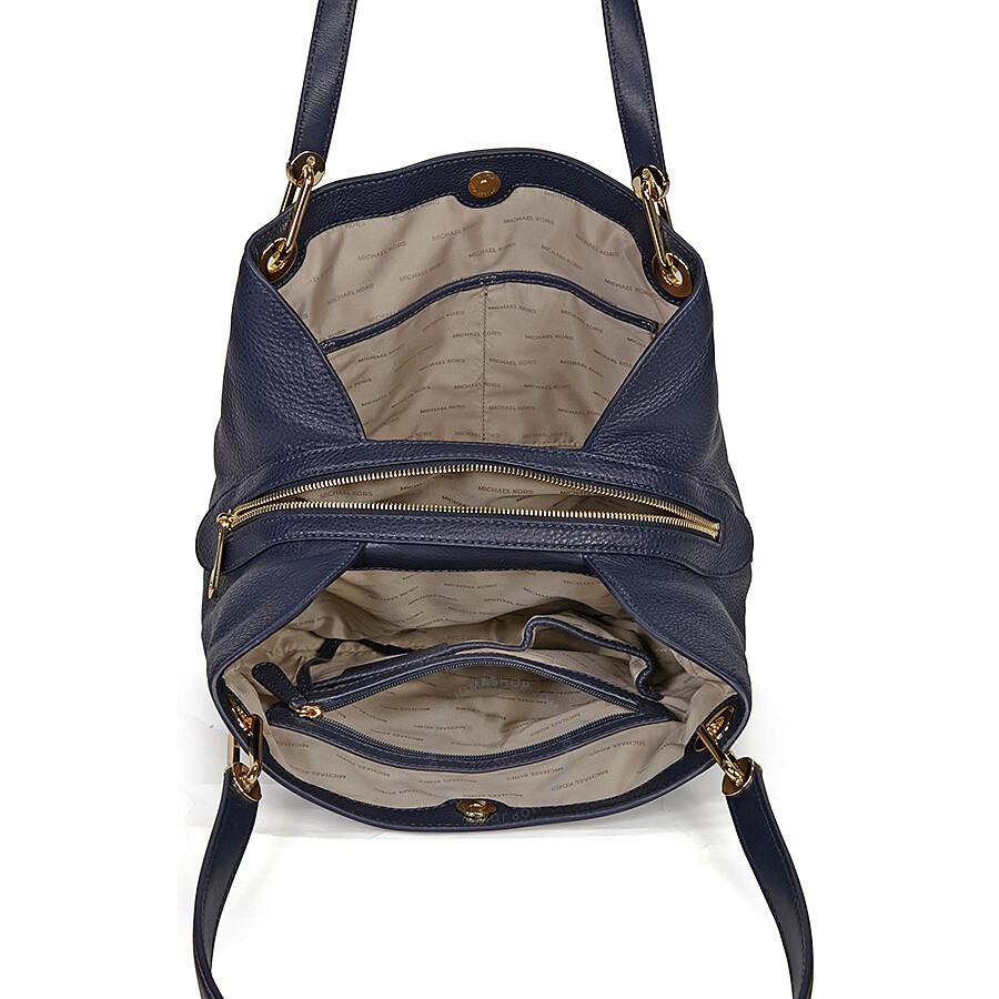 fcd0465560f0e Michael Kors Raven Large Leather Shoulder Bag - Admiral - Michael ...