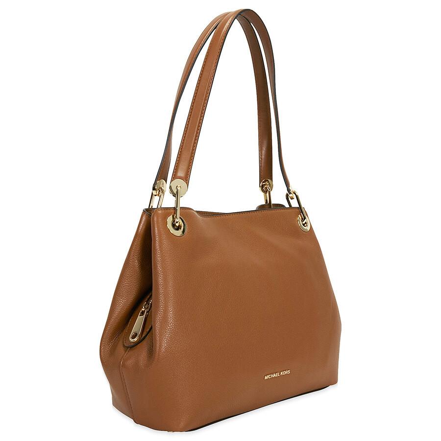 michael kors raven large leather shoulder bag luggage michael kors handbags handbags. Black Bedroom Furniture Sets. Home Design Ideas
