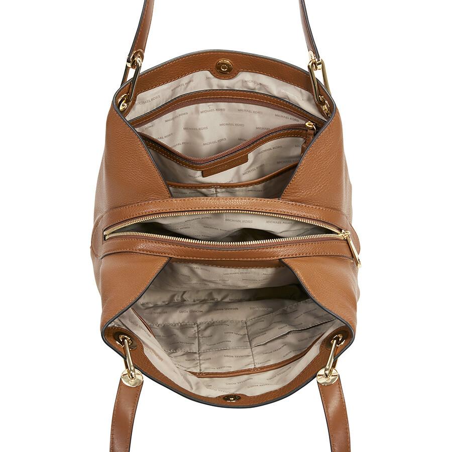 afa6dd6efa74 Michael Kors Raven Large Leather Shoulder Bag - Luggage - Michael ...