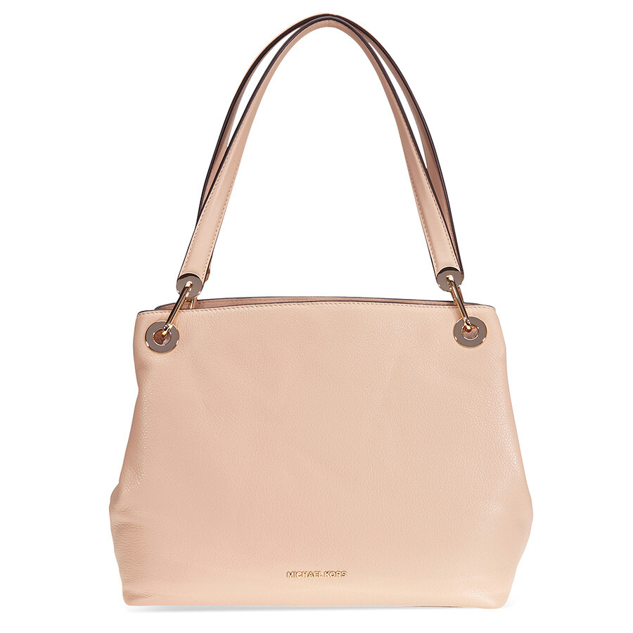 9889598962 Michael Kors Raven Large Leather Shoulder Bag - Oyster Item No.  30H6GRXE3L-134