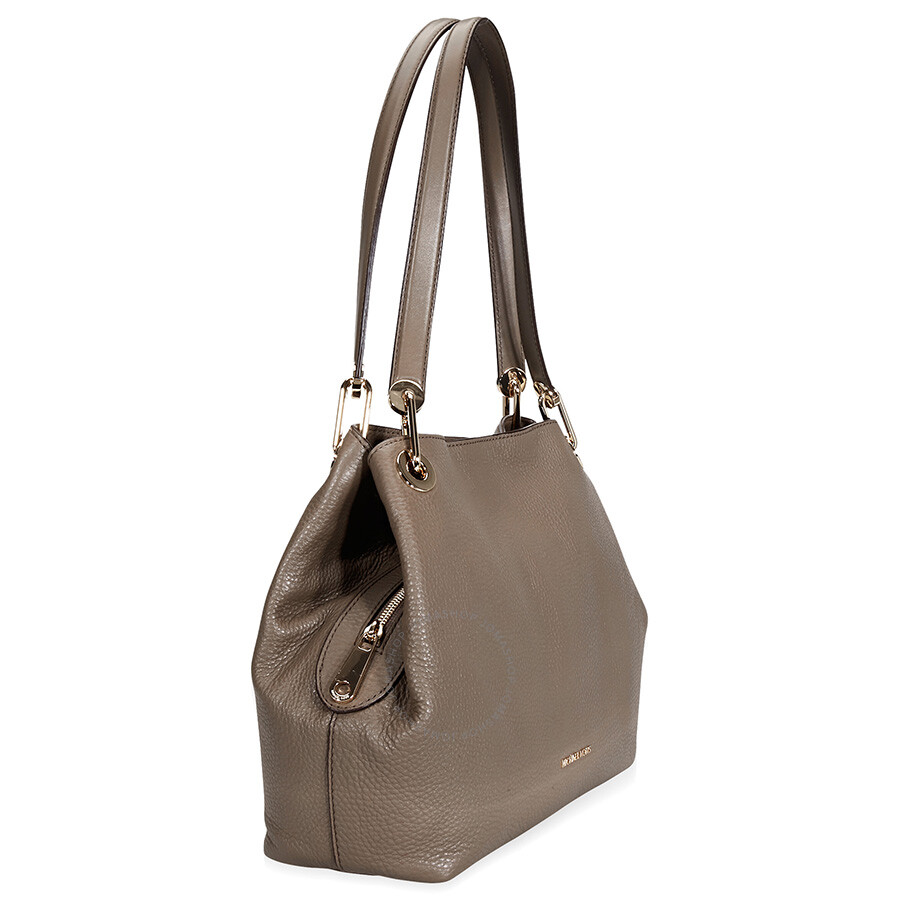 e49fd28be64ff6 Michael Kors Raven Large Leather Shoulder Bag- Mushroom - Raven ...