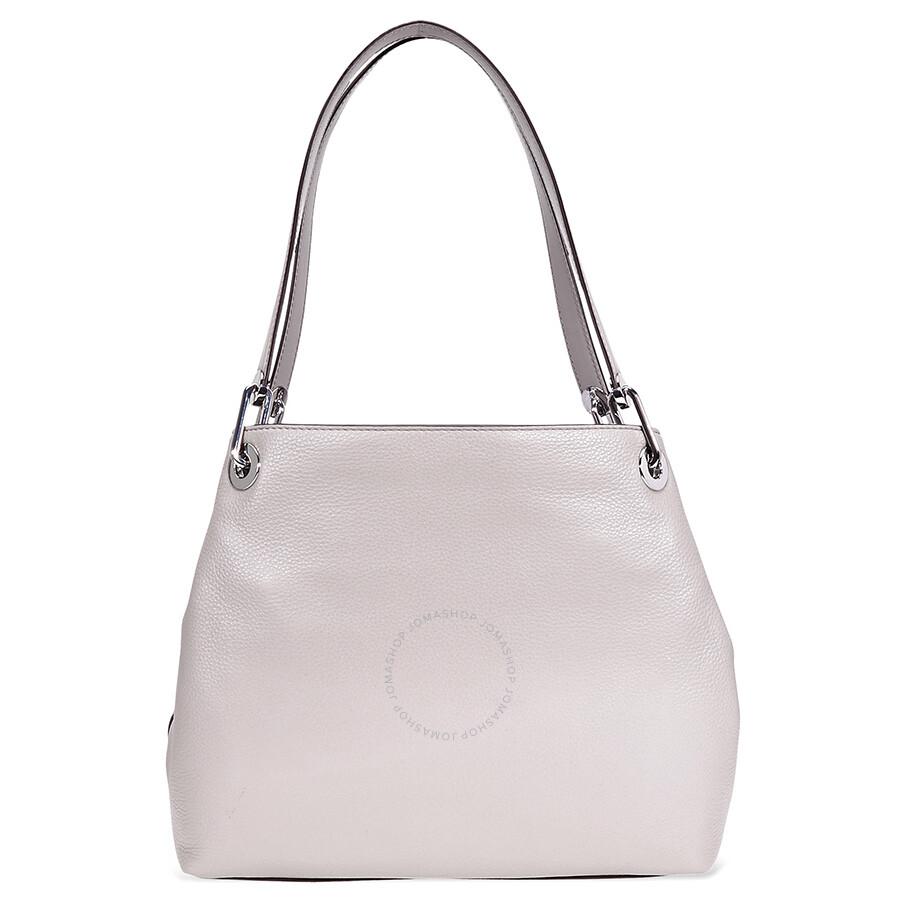 d6afb693edfb Michael Kors Raven Large Pebbled Leather Shoulder Bag- Pearl Grey ...
