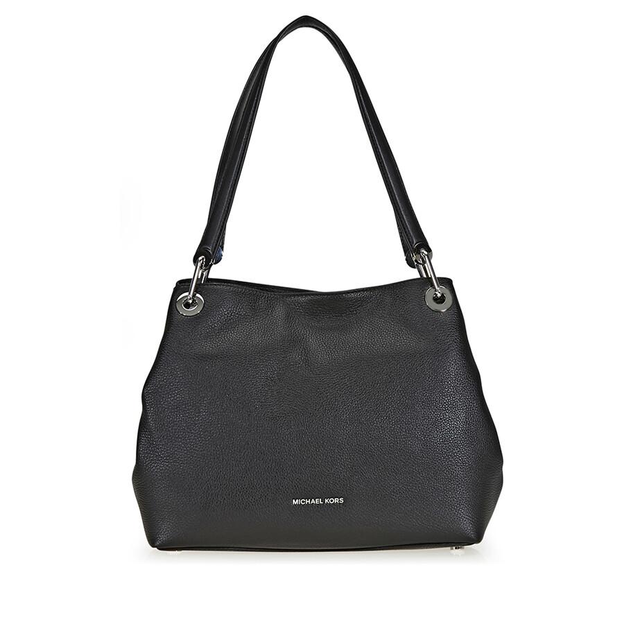 e5de91273dce Michael Kors Raven Large Pebbled Leather Shoulder Bag - Raven ...