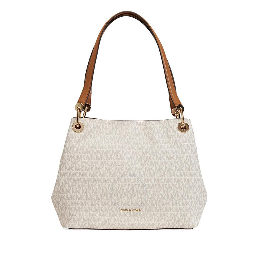 04d54deac7014 Michael Kors Raven Signature Tote - Vanilla - Michael Kors Handbags ...